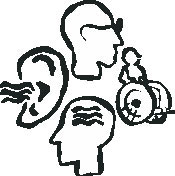 ACCESS Unlimited Disability Icons (Top:Visual Right:Physical Bot:Cognitive Left: Auditory